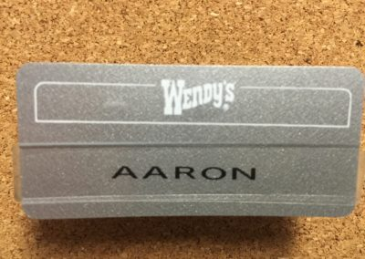 My Wendy's Name Badge